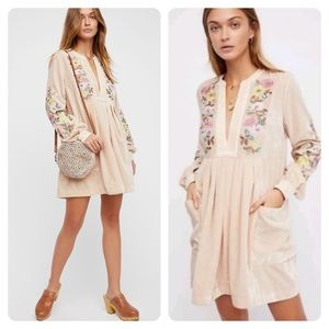 Free People Mia Embroidered Dress